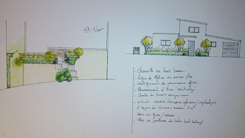 Esquisse croquis les jardins d 39 hortense for Croquis jardin