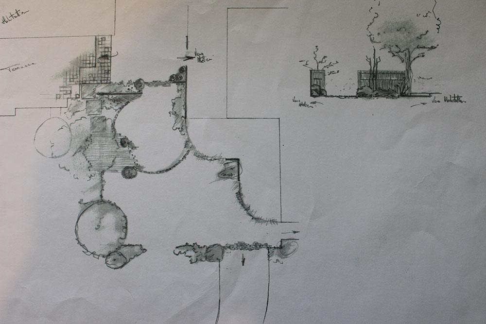 esquisse croquis les jardins d 39 hortense. Black Bedroom Furniture Sets. Home Design Ideas